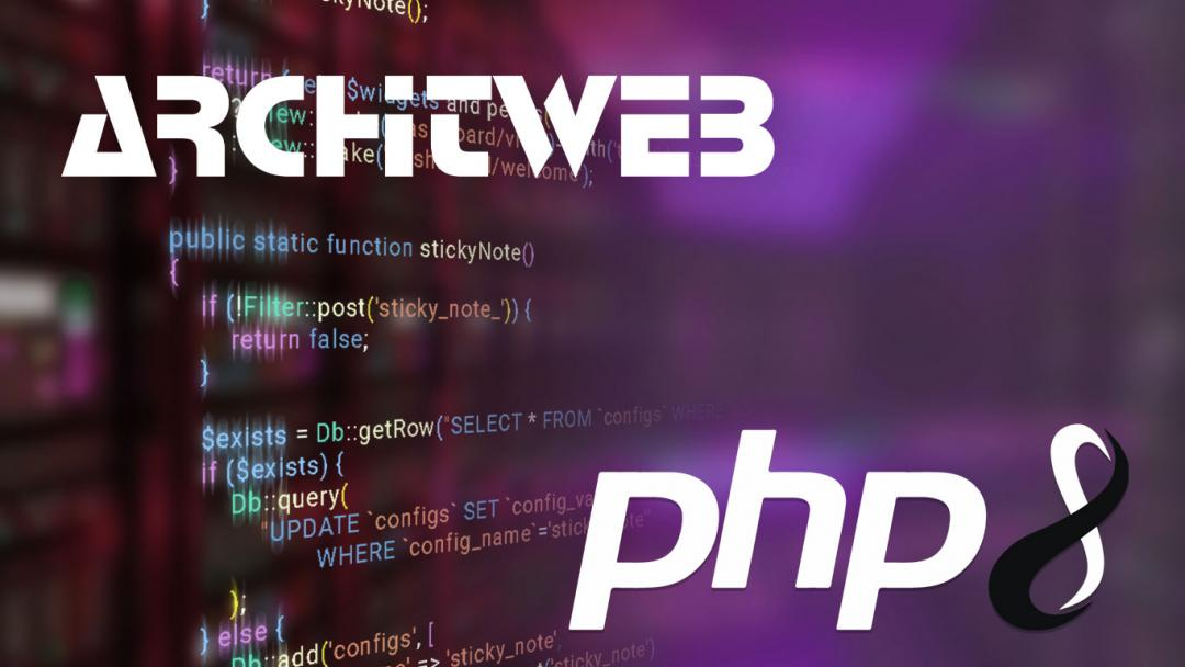 PHP 8 arrived at ArchitWeb